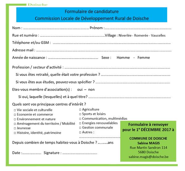 CLDR - Recomposition Bulletin de candidature